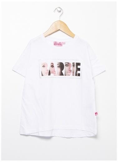 Barbie Barbie Bisiklet Yaka Ekru T-Shirt Ekru